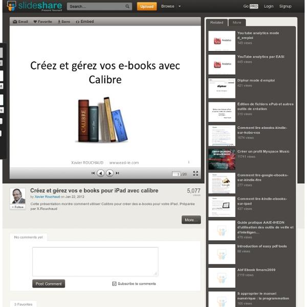 Créez et gérez vos e books pour iPad avec calibre