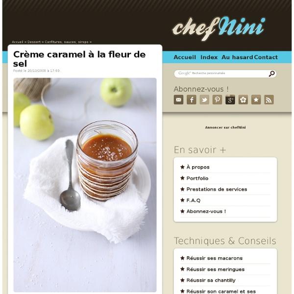 Crème caramel à la fleur de sel