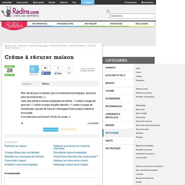 Crème à récurer maison sur Radins.com