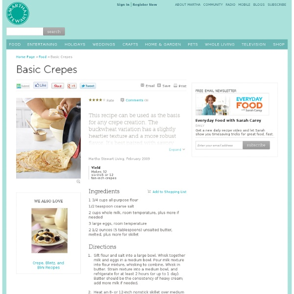 Basic Crepes | Pearltrees
