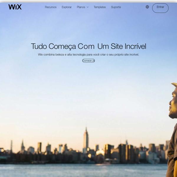 Crie um Site com Flash no Wix.com