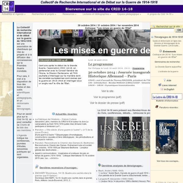 CRID 14-18 - Accueil