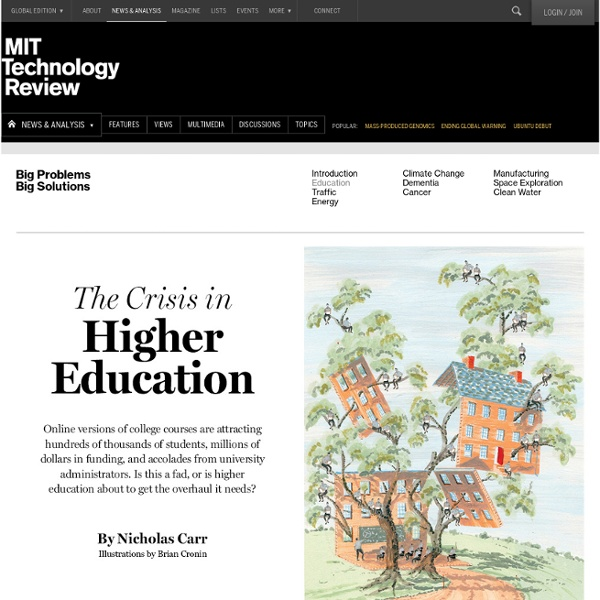 The Crisis in Higher Education