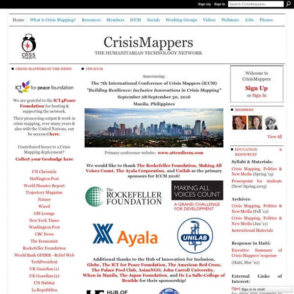 Crisis Mappers Net