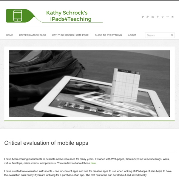 Critical Evaluation of Apps