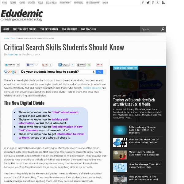 Critical Search Skills Students Should Know
