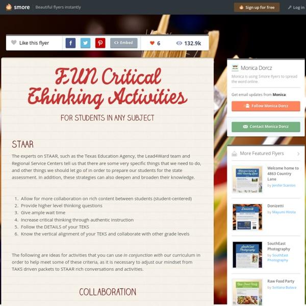 FUN Critical Thinking Activities
