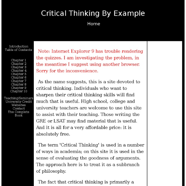 critical thinking is not synonymous with good thinking