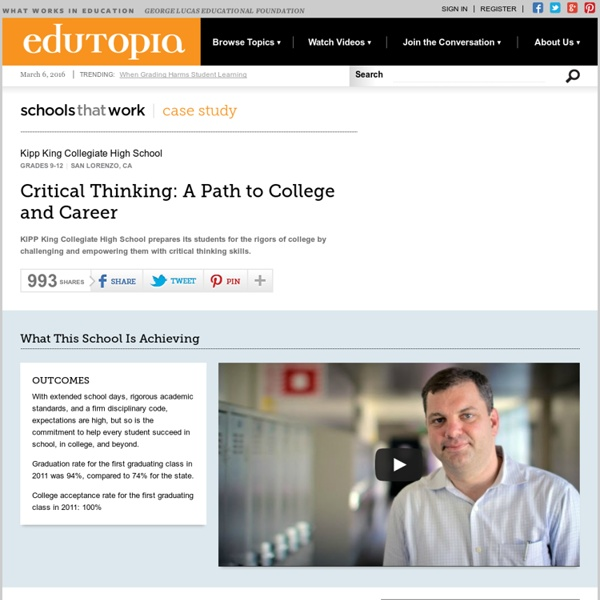 Critical Thinking: A Path to College and Career