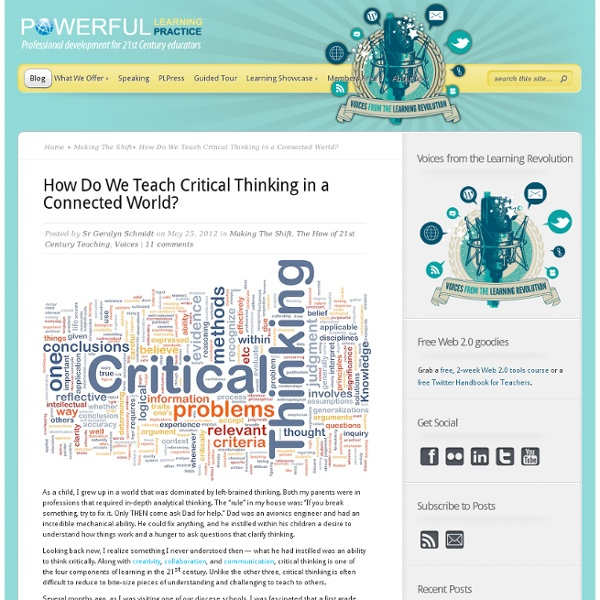 How Do We Teach Critical Thinking in a Connected World?