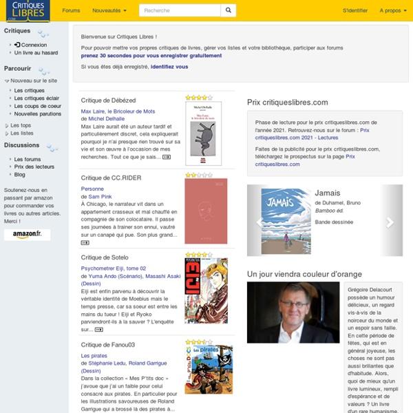 CritiquesLibres.com : critiques de livres