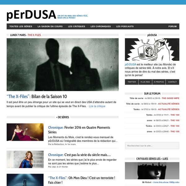 Critiques de Séries Télé en Direct des USA - pErDUSA