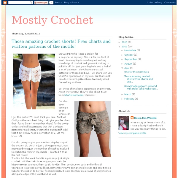 Mostly Crochet Those Amazing Crochet Shorts Free Charts And