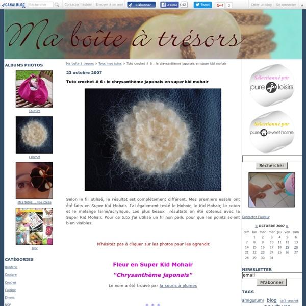 Tuto crochet # 6 : le chrysanthème japonais en super kid mohair