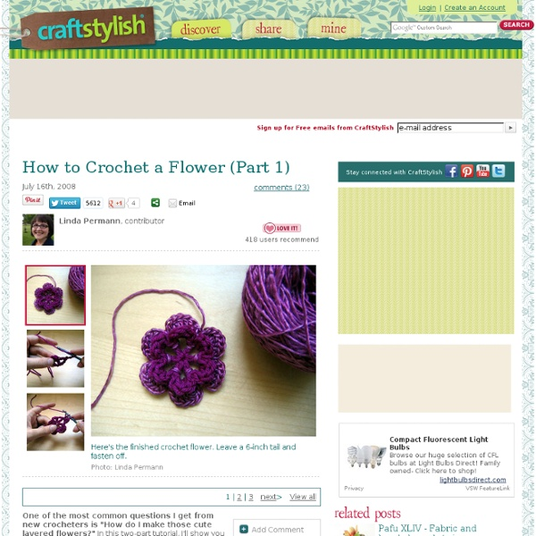 How to Crochet a Flower (Part 1)