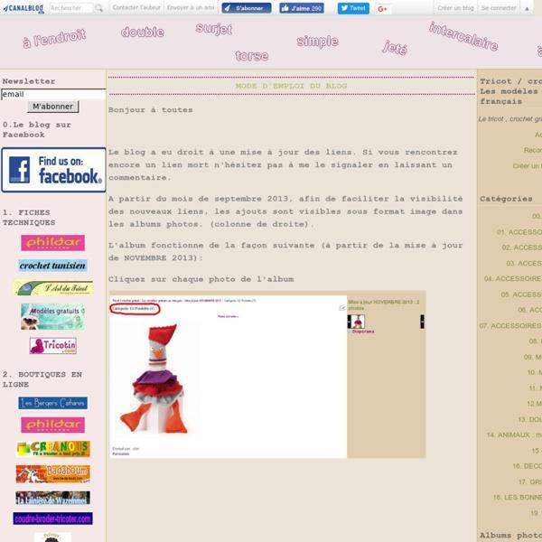 Tricot / crochet gratuit - Les modèles gratuits en français