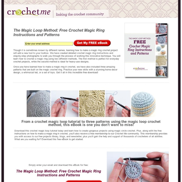 The Magic Adjustable Ring A Better Way To Begin Crochet In The