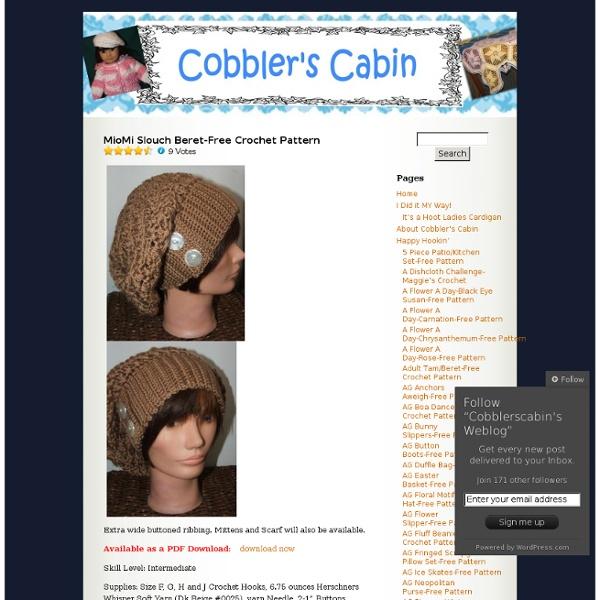 MioMi Slouch Beret-Free Crochet Pattern « Cobblerscabin's Weblog