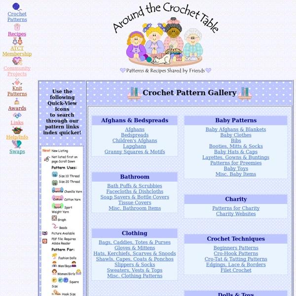 Crochet Pattern Index