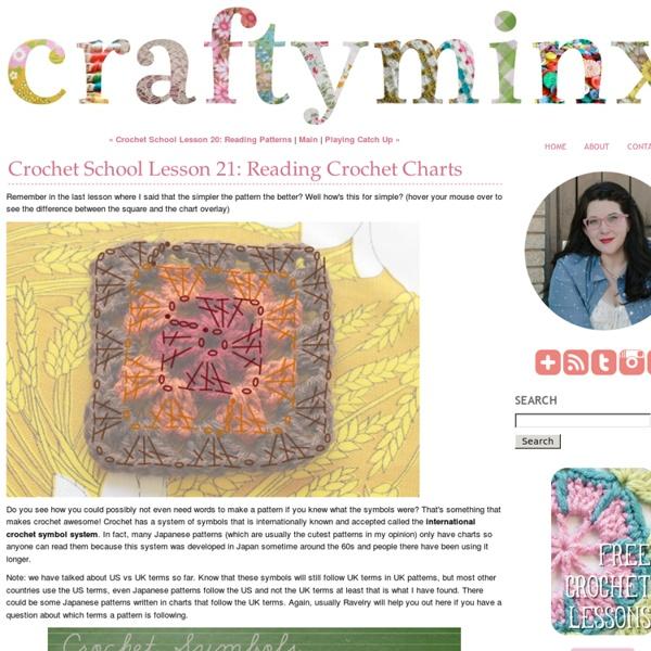 Crochet School Lesson 21: Reading Crochet Charts - Craftyminx - StumbleUpon
