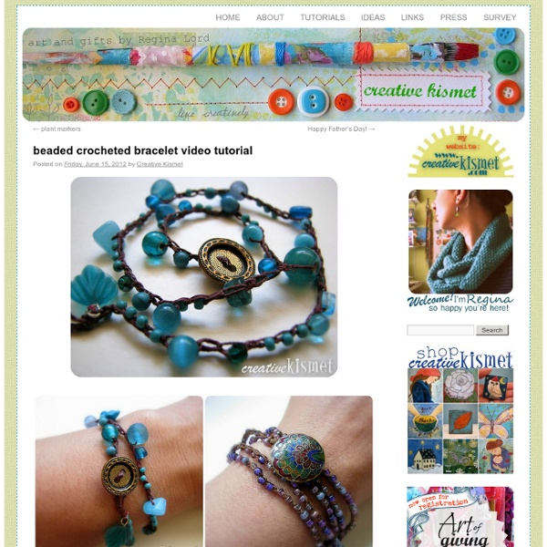 Beaded crocheted bracelet video tutorial