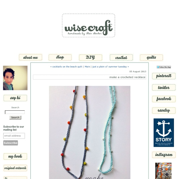 Make a crocheted necklace - wise craft