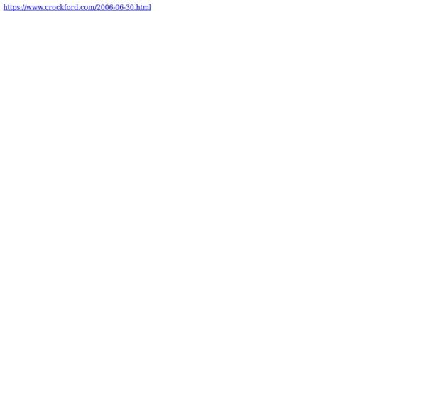 Douglas Crockford's Wrrrld Wide Web