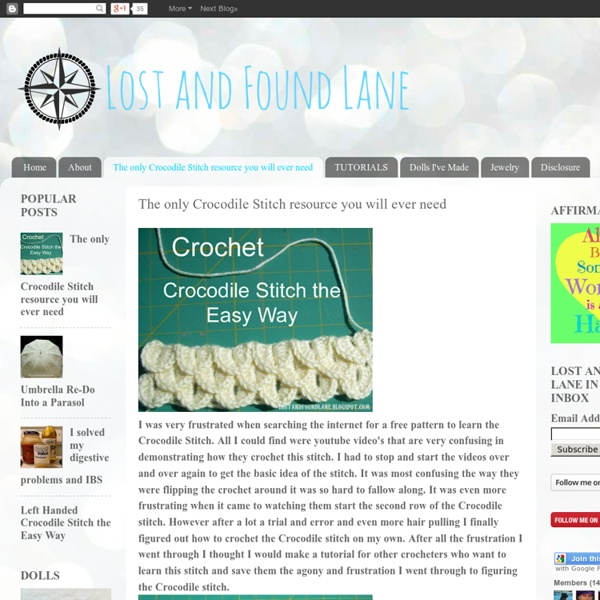 Crocodile Stitch The Easy Way