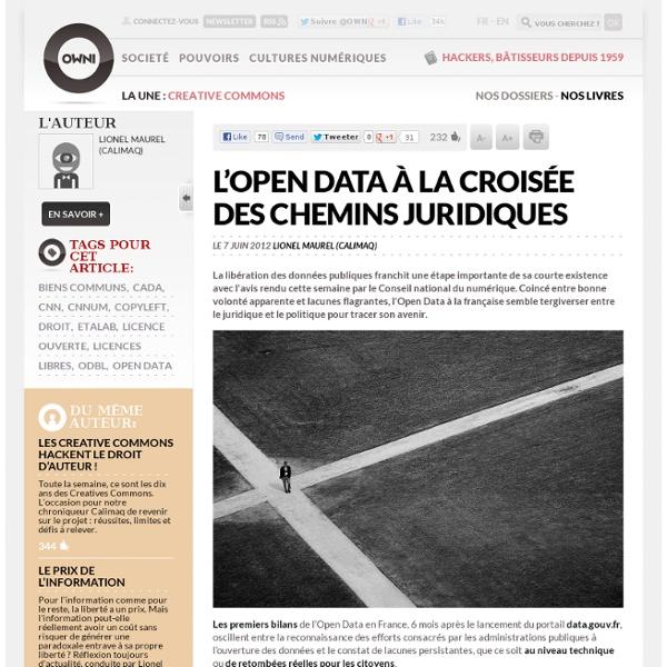 L'Open Data à la croisée des chemins juridiques
