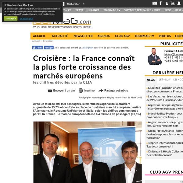 Croisière : la France connaît la plus forte croissance des marchés européens
