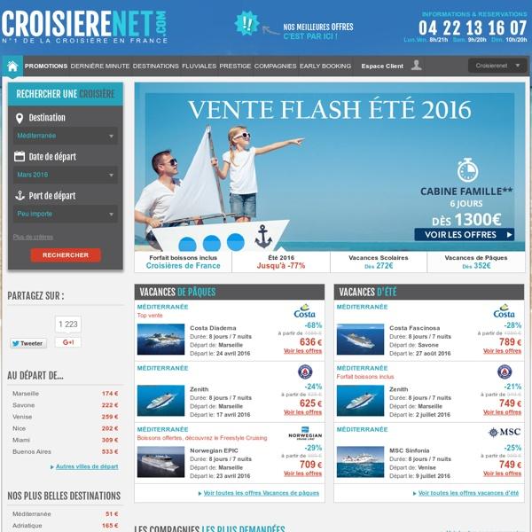 .CROISIERE NET : 1ere Agence spécialisée Croisière Costa, MSC
