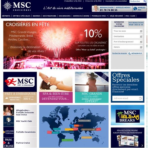 Croisières en Méditerranée, Caraïbes, Antilles, Europe du Nord - MSC Grands Voyages