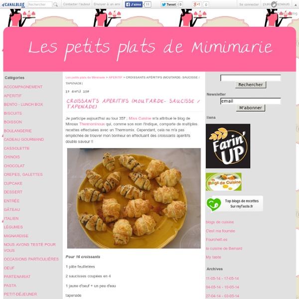 CROISSANTS APÉRITIFS (MOUTARDE- SAUCISSE / TAPENADE) - Les petits plats de Mimimarie