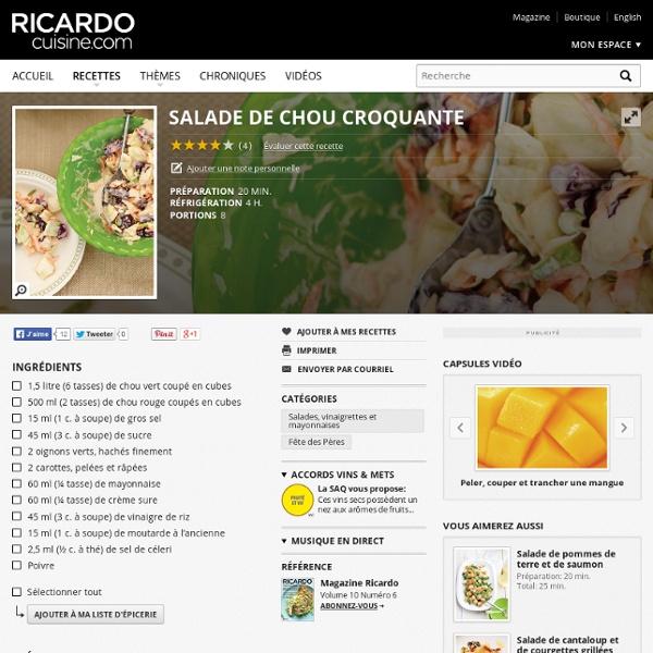 Salade de chou croquante Recettes
