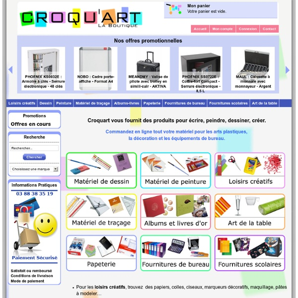 Croquart : Matériel de dessin, peinture et loisirs créatifs