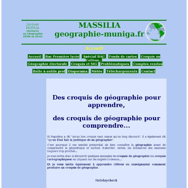 Croquis géographie