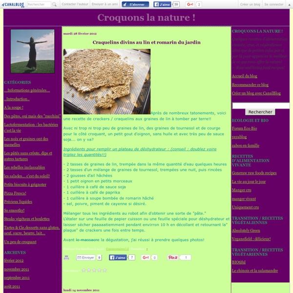 Cuisiner Cru / Croquons la nature