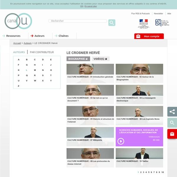 LE CROSNIER Hervé - Les auteurs - Canal-U