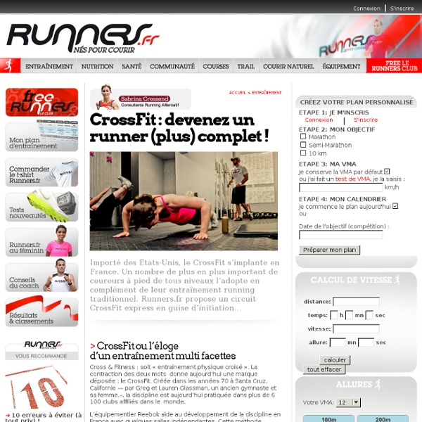 CrossFit : devenez un runner (plus) complet
