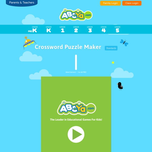 New 10 Printable Crossword Puzzle Maker For Kids Abcya Com 2018 ...