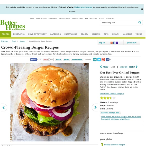 Crowd-Pleasing Burger Recipes