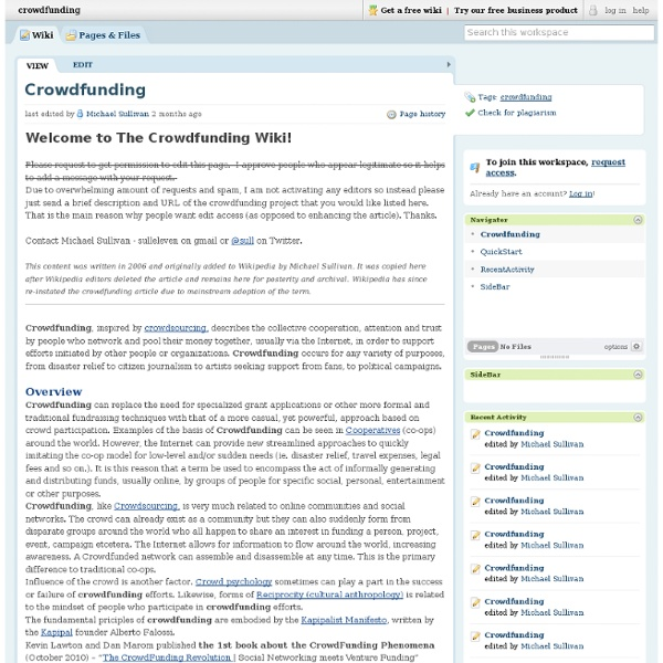 Crowdfunding / Crowdfunding