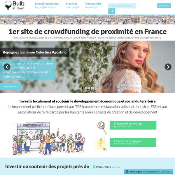 Le crowdfunding local : TPE, commerce, artisanat, ESS - Bulb in Town