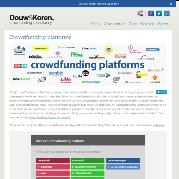 Crowd Funding in the Netherlands