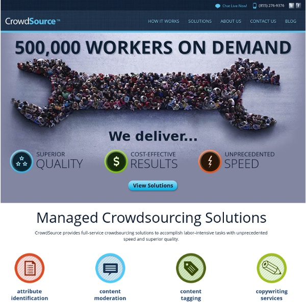 CrowdSource.com - Managed Crowdsourcing Solutions