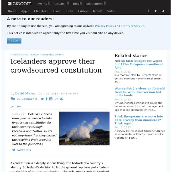 Icelanders approve their crowdsourced constitution — European technology news