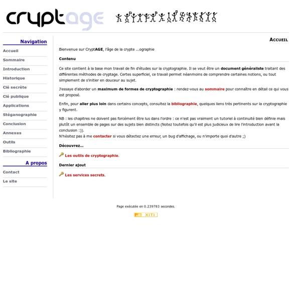 CryptAGE, tout sur la cryptographie