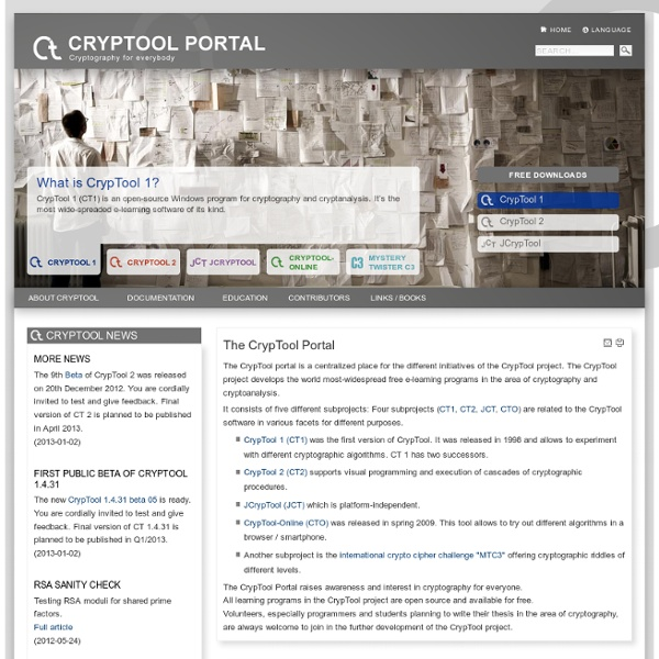 CrypTool - Educational Tool for Cryptography and Cryptanalysis
