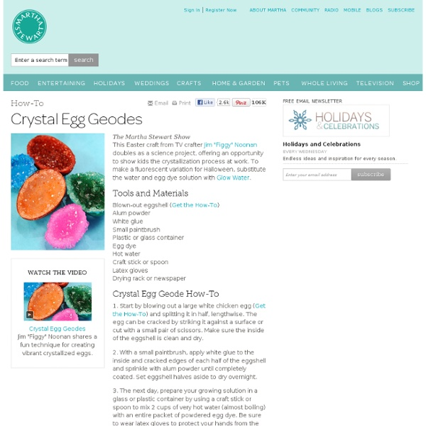 Crystal Egg Geodes - Martha Stewart Easter