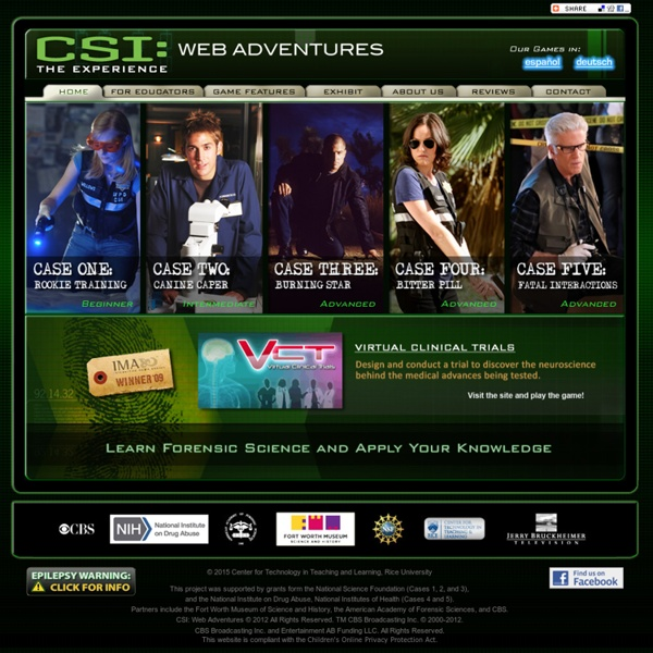 CSI: THE EXPERIENCE — Web Adventures